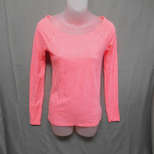 American Eagle neon pink long sleeve top small